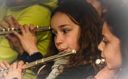 cours de saxophone, cours de flûte